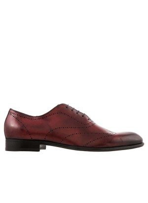 GERMANO BELLESI Saturnia Burgundy Wingtip Shoe