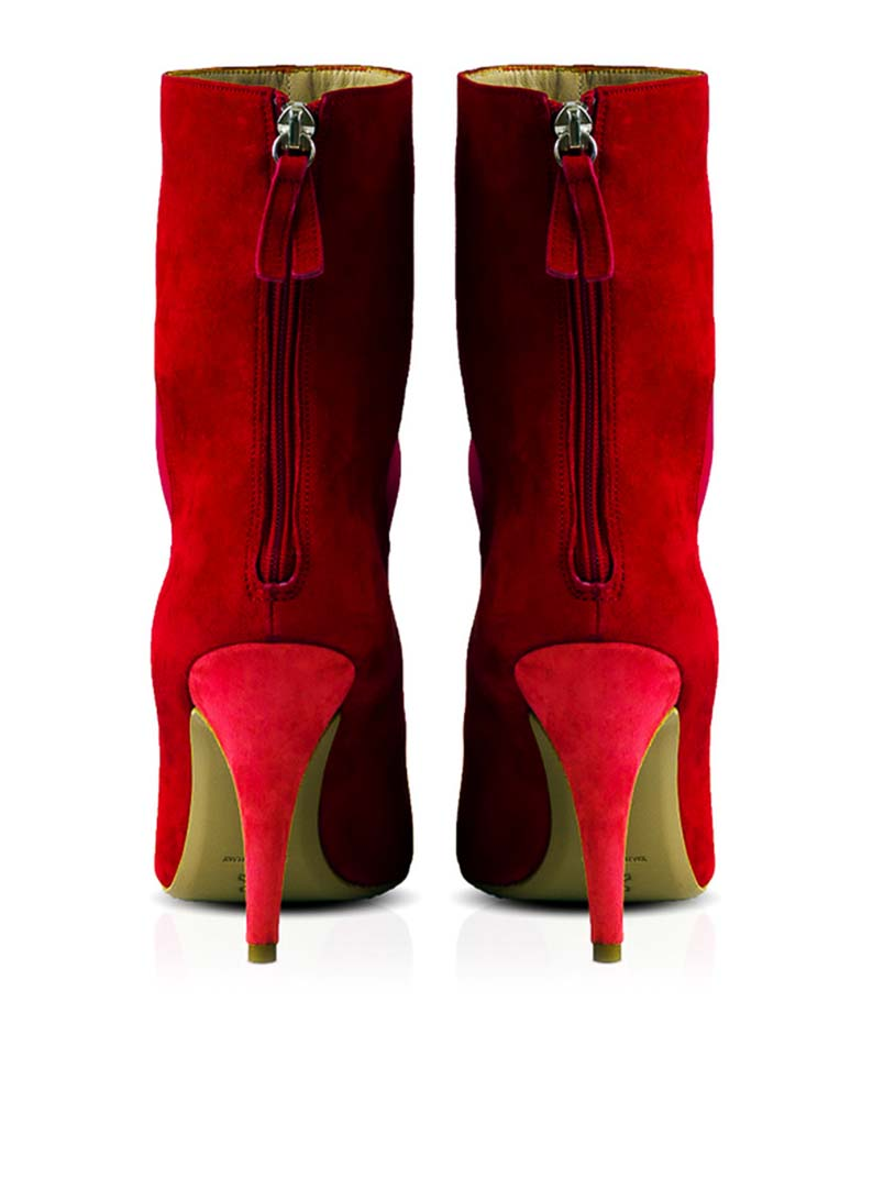KONSTANTINA TZOVOLOU Red DEEVA Ankle Boot