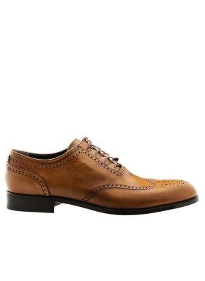 GERMANO BELLESI Delavè Walnut Wingtip Oxfords