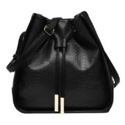 Melanie Bianco Black Alexandra Bucket Bag