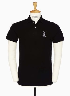 Psycho Bunny Black Tall Bunny Polo