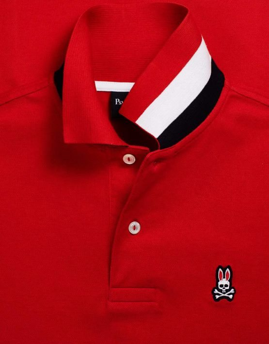 Psycho Bunny Brilliant Red Winford Anniversary Polo