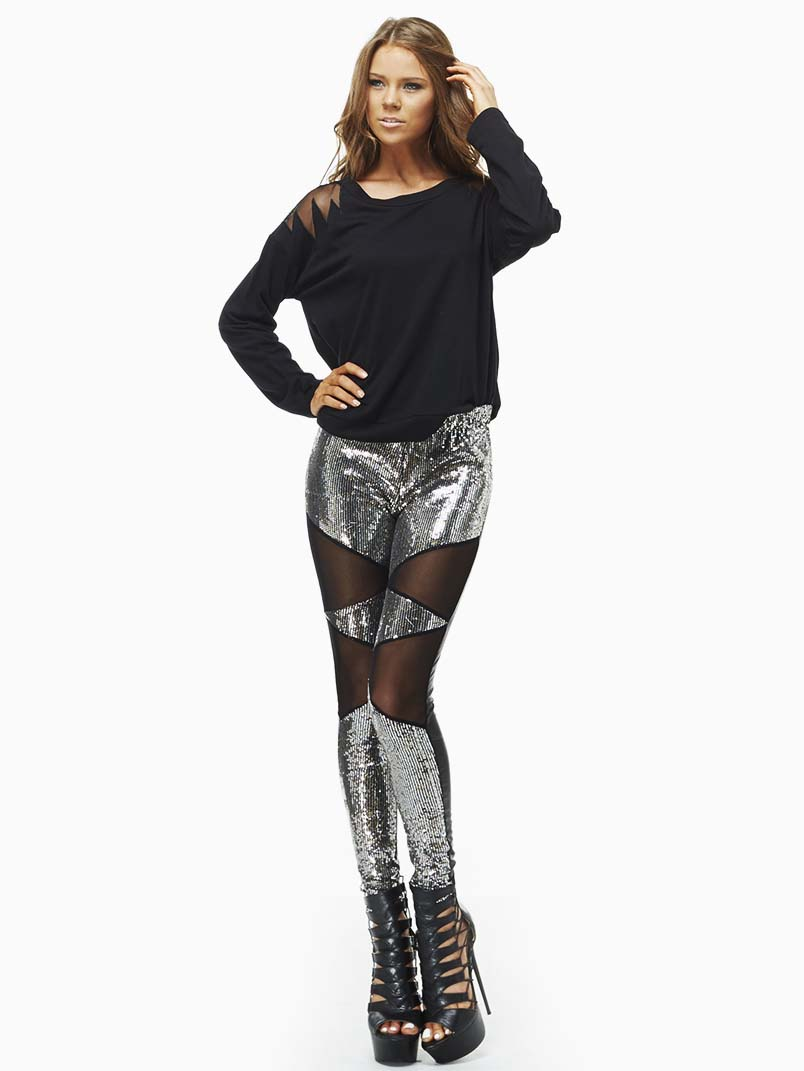TOV Shine On Sequin Leggings