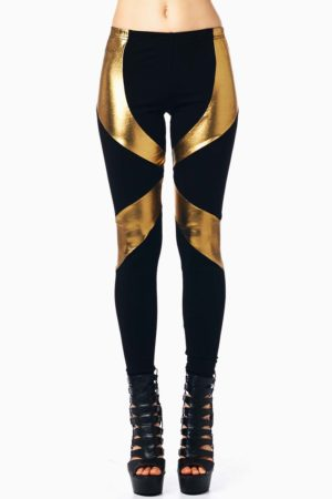 TOV Razor Gold Leggings