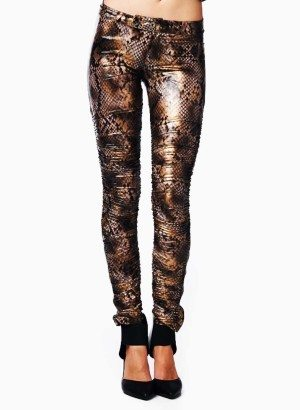 TOV Snake Print Leggings
