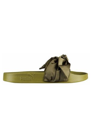 Puma Fenty Olive Green Bow Slides