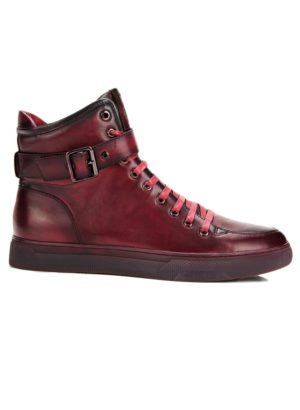 JUMP New York Sullivan Burgundy High Top Sneaker