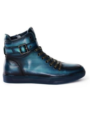 JUMP New York Sullivan Turquoise High Top Sneaker