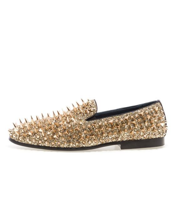 JUMP NEWYORK Lord Gold Spike Loafers