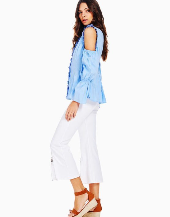 TOV Cold Shoulder Baroness Blouse