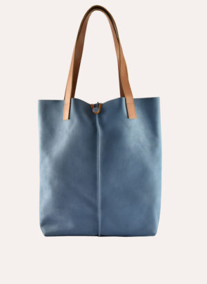 Kiko Leather Blue Seabu Tote