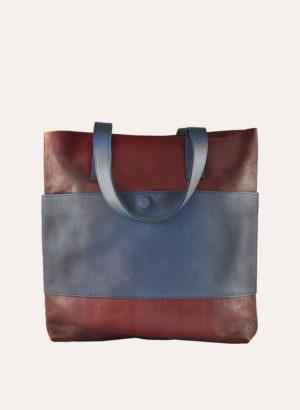 Kiko Leather Brown Telegraph Tote