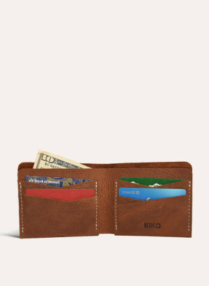 Kiko Leather Tan Buck Bifold Wallet
