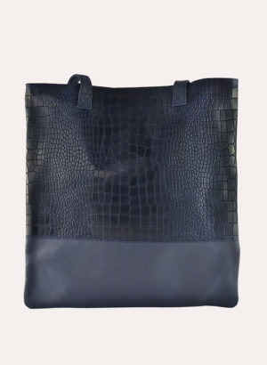 Kiko Leather Navy Hidalgo Tote