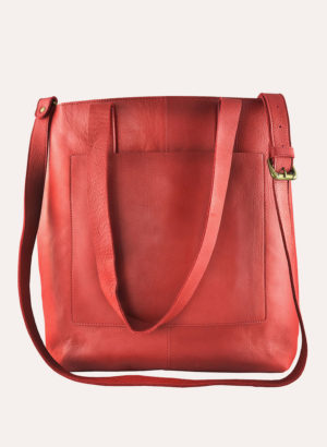 Kiko Leather Red Journalist Tote