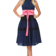 TOV Navy Suji Dress