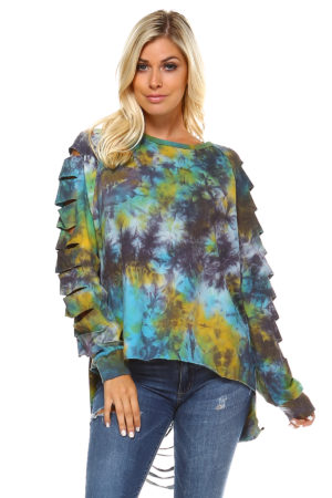 TOV Tie Dye Cut Out Top