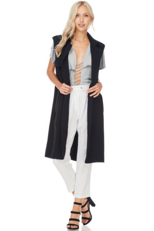 TOV Black Trench Vest