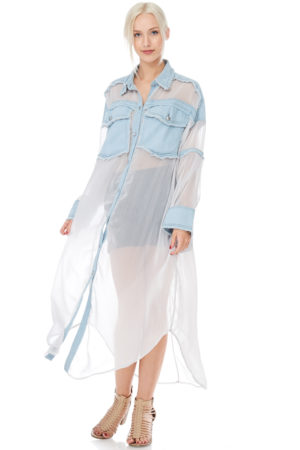 TOV Light Blue Anjelic Shirtdress