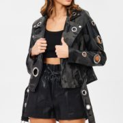 Blue Elephant Charcoal Camouflage Moto Jacket