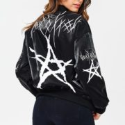 Blue Elephant Black Star Bomber Jacket