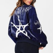 Blue Elephant Navy Star Bomber Jacket