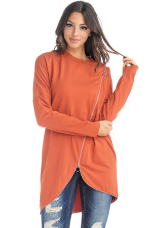 TOV Rust Zipper Link Top