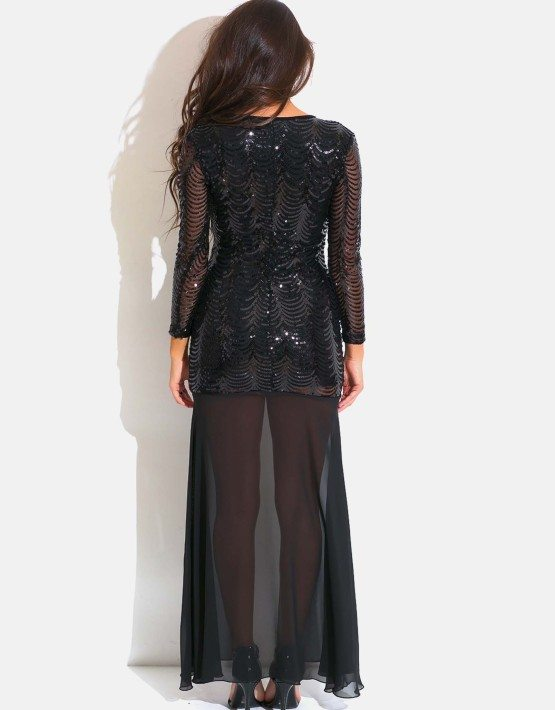 SEQUINED EVENING DRESS