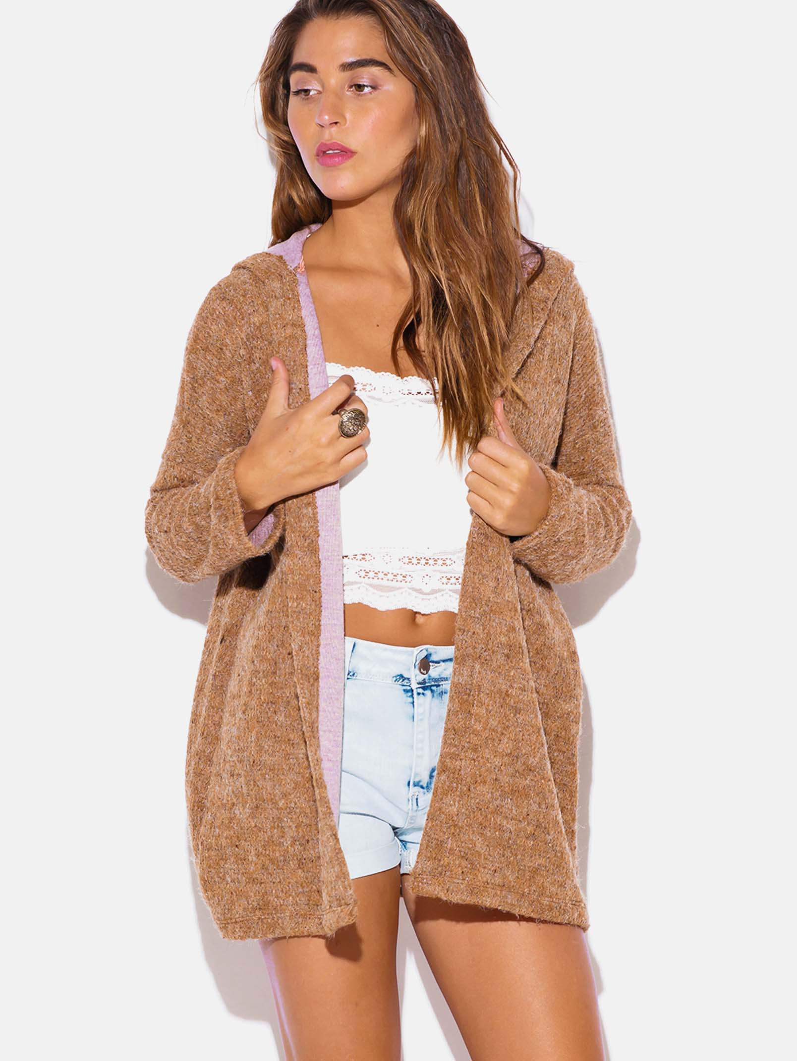Beige Cardigan Sweater