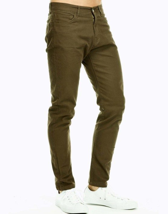 Men's Military Green Slim Fit Jeans