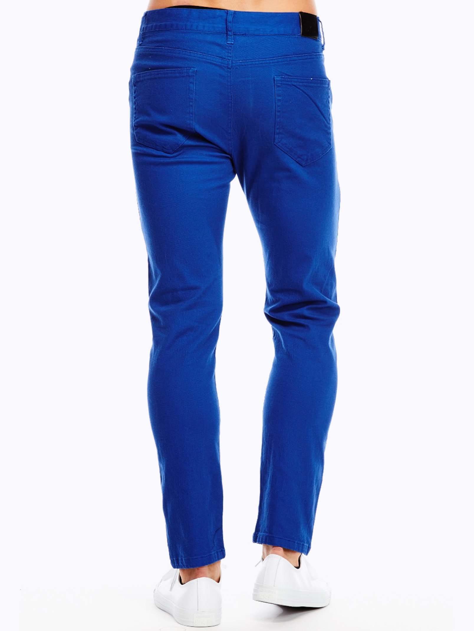 Blue T Shirts With Black Pants And Shoes