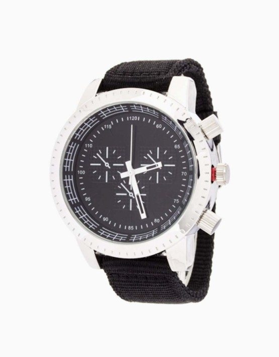 Black and Silver Trendy Unisex Watch