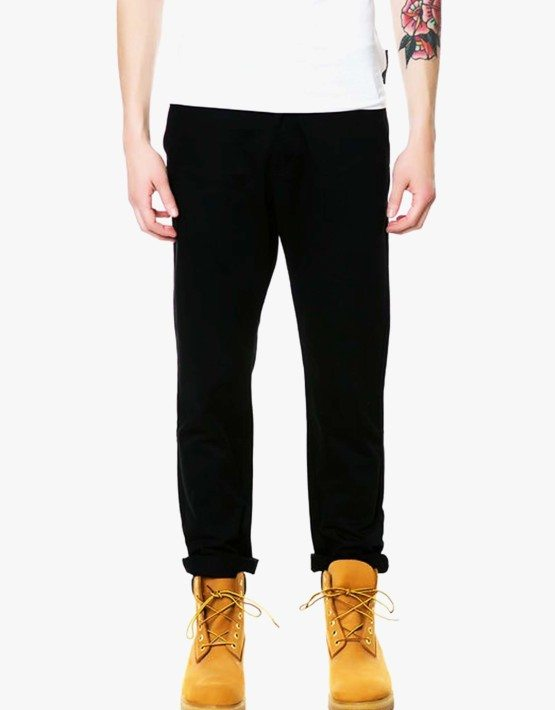 Classic Slim Straight Chino in Black by Cargo NY