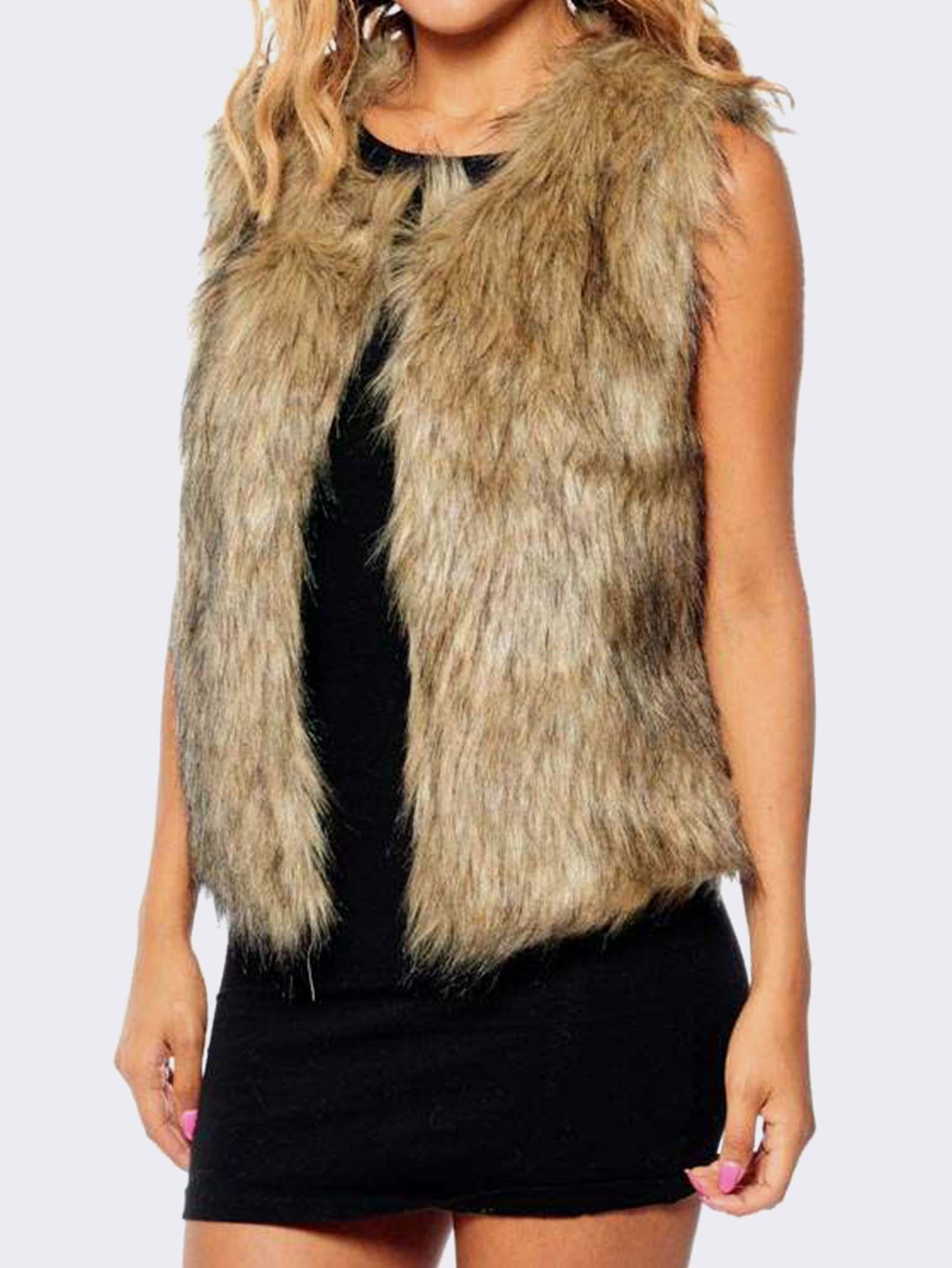 You have exceeded the max quantity of 10 for this product. Please adjust the quantity before adding to cart. You have reached the maximum quantity allowed for this item. Cruelty free and absolutely on trend. This gorgeous faux-fur vest comes in a head turning burgundy. With two side pockets to stash.