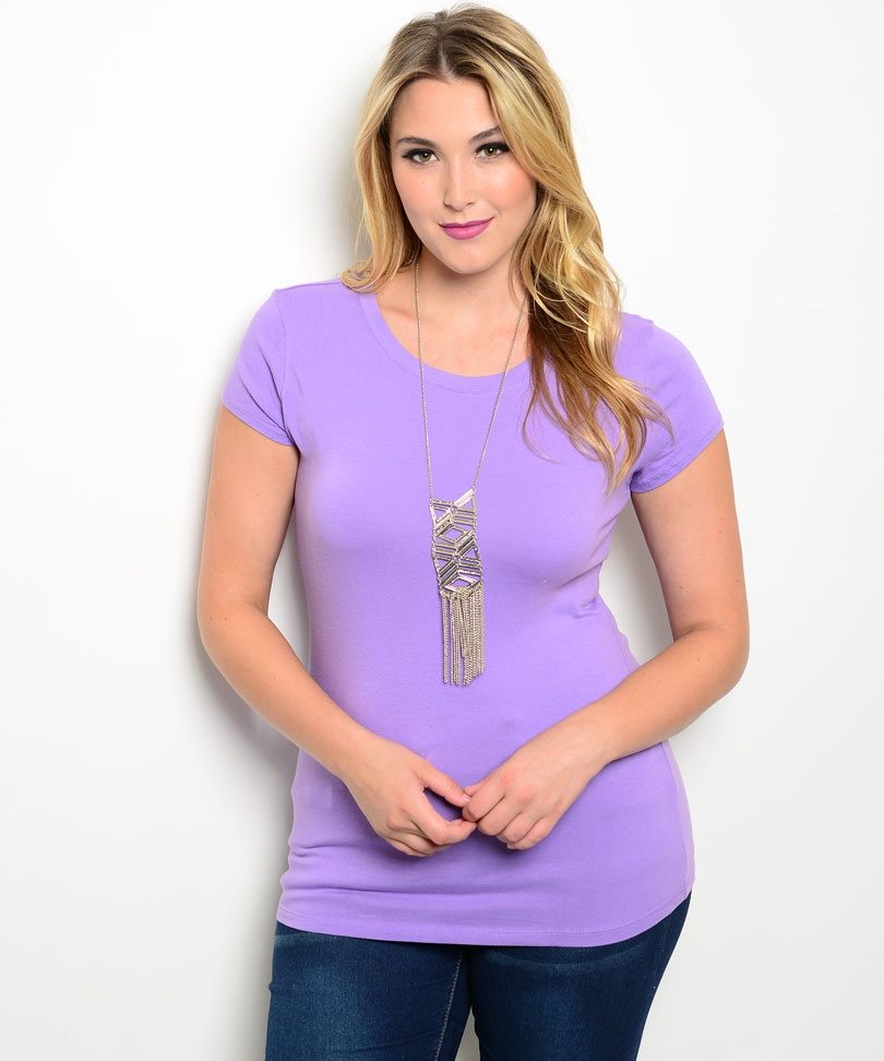 Lilac Plus Size Stretchy Top