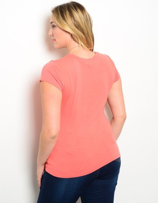Peach Plus Size Stretchy Top
