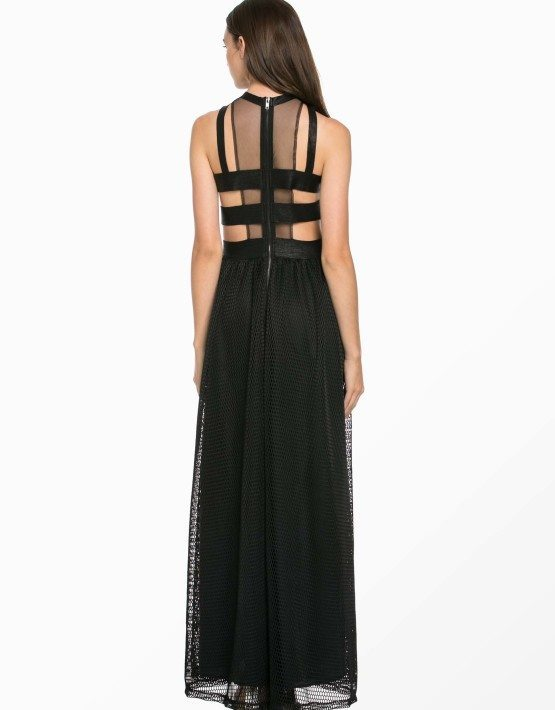 TOV Asymetrical Sleeveless Sequins Maxi