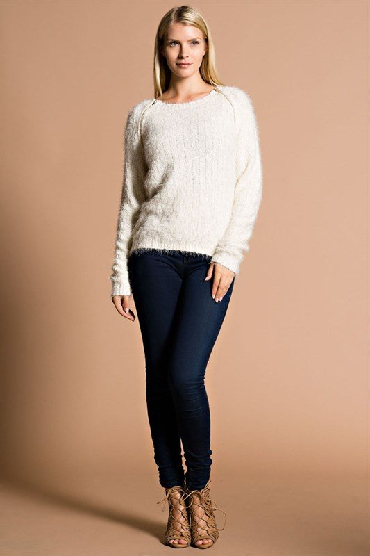 hot cardigans beige long sleeve fuzzy sweater modishonline com