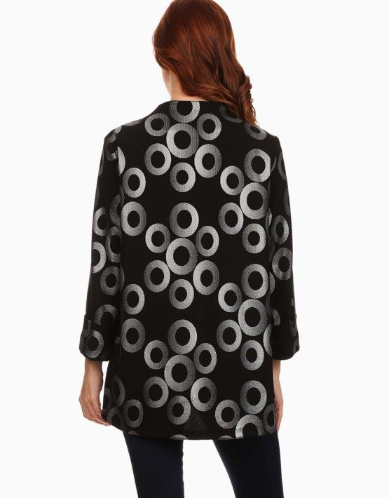 Circle Pattern Printed Jacket
