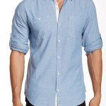 Light Denim Speckled Chambray Button Down