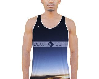 "Deux Sept ""Cockpit Horizon"" Classic Fit Tank Top"