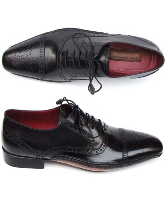 Paul Parkman Black Captoe Oxford
