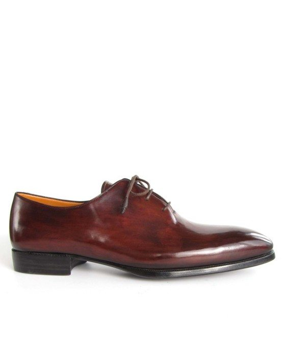 Paul Parkman Brown Bordeaux Handmade Oxfords