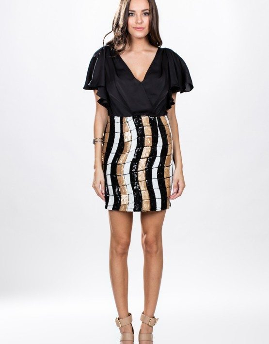 Ark & Co. Butterfly Wrap Sequins Dress
