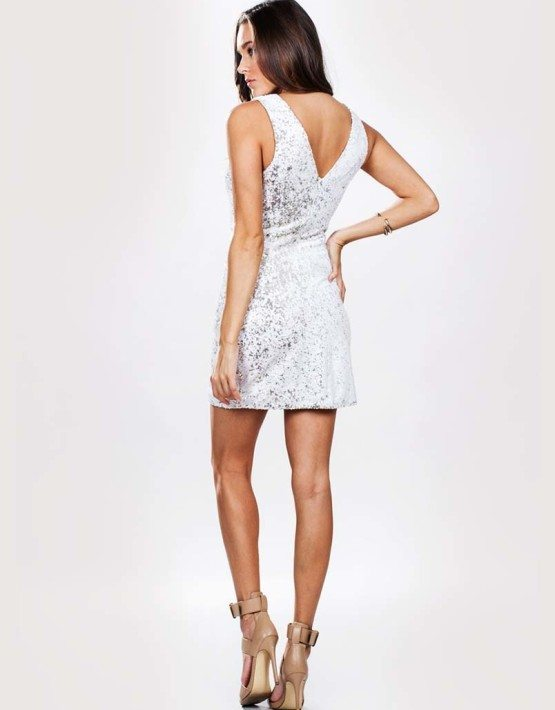 Ark & Co. White Sequin Dress