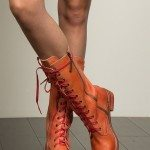 POL Leather Lace-Up Riding Boots