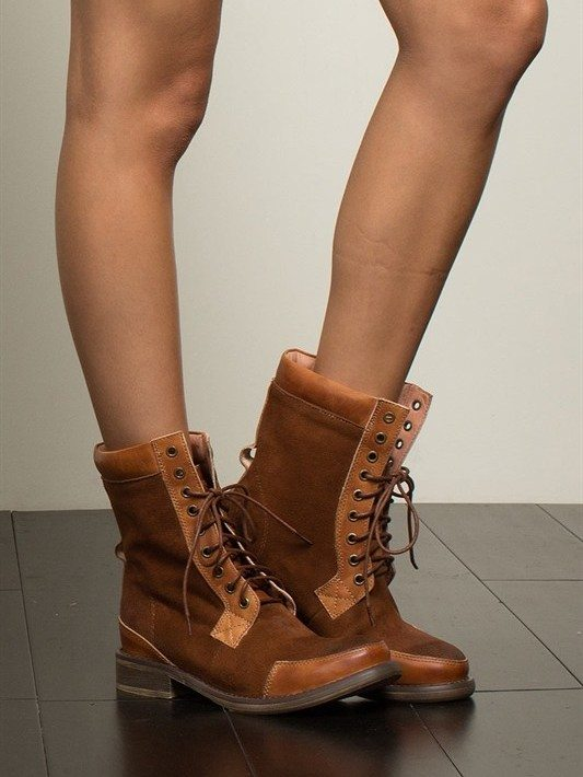 POL Brown Suede Outdoor Boots