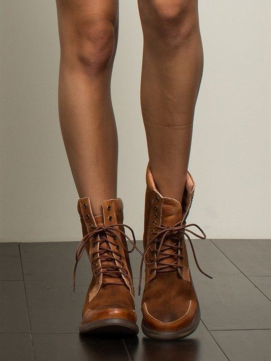 POL Brown Suede Lace Up Outdoor Boots
