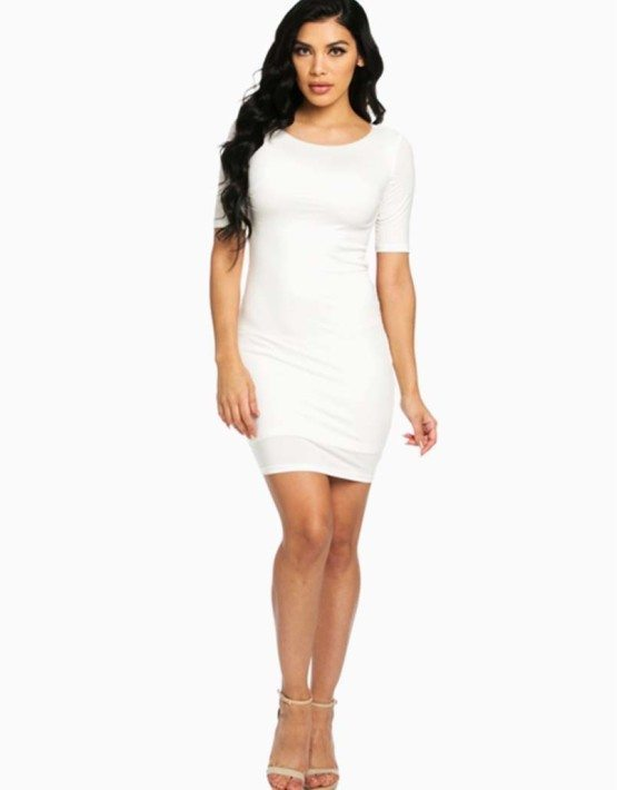 Hera Collection White Modal Mini Dress