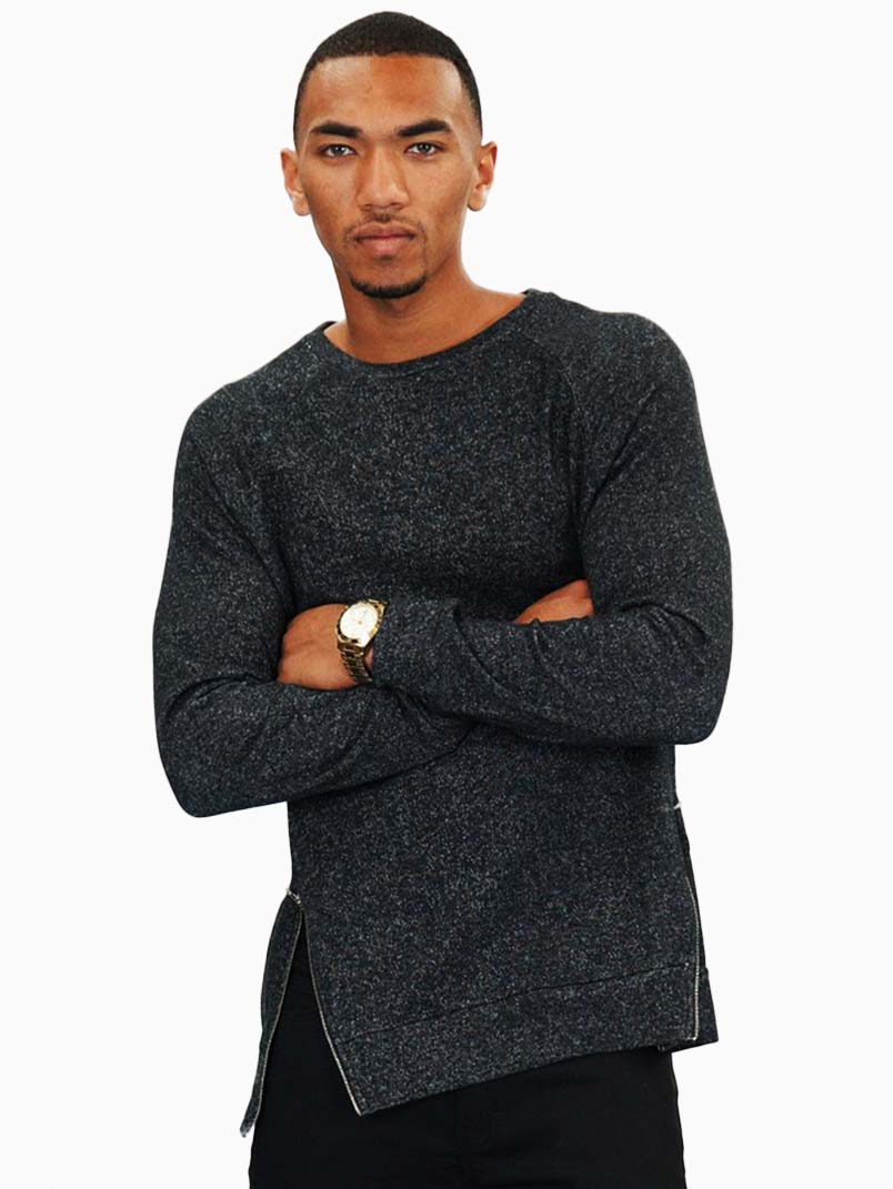 Two tone french terry long sleeve shirt for French cut shirt sleeve